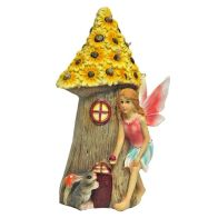 Magical Garden Solar Powered Woodland Fairy House - Yellow