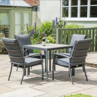See more information about the Croft Milan 4 Seat Set With Cushioned Airchairs