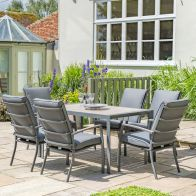 See more information about the Croft Milan 6 Seat Set With Cushioned Armchairs