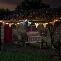 See more information about the Bright Garden Solar Bunting With 10 Flags