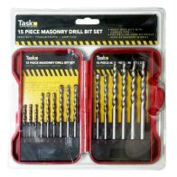 15pce Masonary Drill Bit Set Red Case