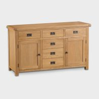 See more information about the Cotswold Sideboard Oak 2 Door 6 Drawer