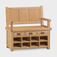 See more information about the Cotswold Hall Bench Oak 3 Drawer