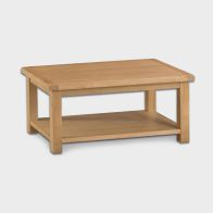 See more information about the Cotswold Coffee Table Oak 1 Shelf