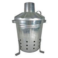 See more information about the 13 Litre Mini Galvanised Garden Incinerator & Lid - Made in the UK