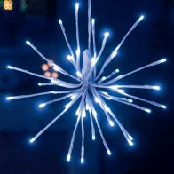 See more information about the LED White Outdoor Animated 4 Sparkle Balls Lights Mains 30cm Diameter
