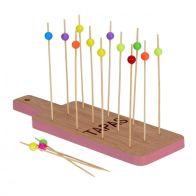 Tapas Bamboo Tray Set - Pink