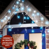 See more information about the 300 LED Blue/White Outdoor Animated Icicle Extendable Light Mains 1.5m