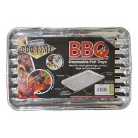 2Pk BBQ Grill Foil Trays Disposable