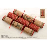 See more information about the 6 Christmas Crackers 12 Inch - Kraft