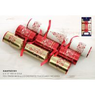 See more information about the 6 Christmas Crackers 12 Inch - Red & Gold