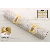 See more information about the 6 Premium Christmas Crackers 14inch - Gold & Cream