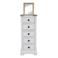 See more information about the Olivia Grey & Oak Tall Chest Of 5 Drawers