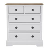 See more information about the Olivia Oak 2 Over 3 Drawer Chest