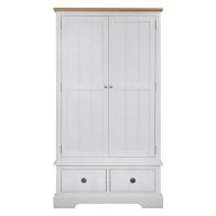 See more information about the Olivia Oak 2 Drawer 2 Door Wardrobe