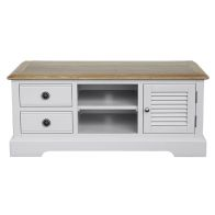 See more information about the Olivia Oak 2 Drawer 1 Door TV Lowline Unit