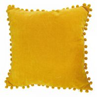 See more information about the Ochre Pom Pom Cushion 45 x 45cm