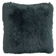 See more information about the Jumbo Grey Shaggy Faux Fur Cushion 66 x 66cm