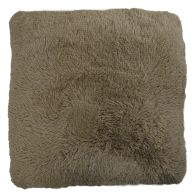 See more information about the Jumbo Brown Shaggy Faux Fur Cushion 66 x 66cm