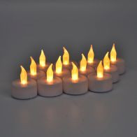 See more information about the 12 Pack of White LED Tealights