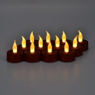 See more information about the 12 Pack of Red Glitter LED Tealights