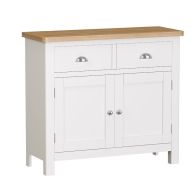 See more information about the Jasmine Sideboard Oak & White 2 Door 2 Drawer