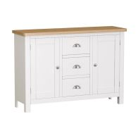 See more information about the Jasmine Sideboard Oak & White 2 Door 3 Drawer