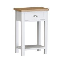 See more information about the Jasmine White 1 Drawer Telephone Table
