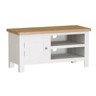 See more information about the Jasmine White 2 Shelf 1 Door TV Unit