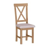 See more information about the Sienna Cross Back Dining Chair Oak