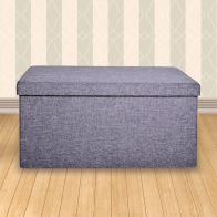 See more information about the Secreto Long Storage Ottoman Grey Large