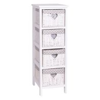 See more information about the Daisy 4 Drawer Slim Cabinet White Paint Paulo