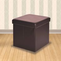 See more information about the Secreto Storage Ottoman Brown & Faux Leather Small