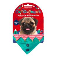 See more information about the Novelty Party On Elf Bandana For Dogs  Cupid & Comet