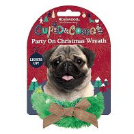 See more information about the Novelty Party On Xmas Wreath For Dogs  Cupid & Comet