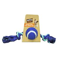See more information about the Extra Select Tennis Ball & Rope Bone Tugger Toy Blue