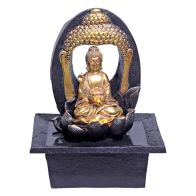 See more information about the Large Buddha Indoor Table Top Illuminated Water Fountain