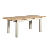 See more information about the Harmony Extending Dining Table Oak & White 6 Seater