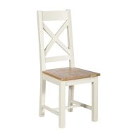 See more information about the Harmony Cross Back Dining Chair Oak & White