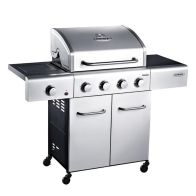 4 Burner Gas Outback Meteor Hooded Barbeque Stainless Steel