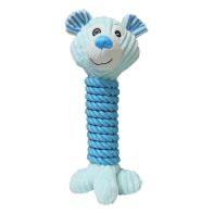 See more information about the Animal Dog Toy Rope & Plush Fabric - Blue