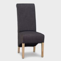 See more information about the Lancelot Scroll Back Dining Chair Grey