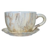 See more information about the Marble Design Tea Cup Planter