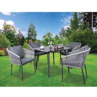 See more information about the Croft Grey Mobel 5 Piece Garden Furniture Set