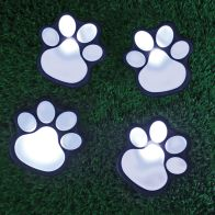 See more information about the Bright Garden 4 Pack Paw Print Solar Path Lights