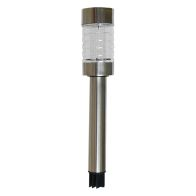 See more information about the Bright Garden Metal Solar Light - Brushed Chrome Finish