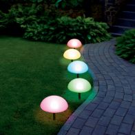 See more information about the Bright Garden 5 Pack Dual Function Ground Solar Light