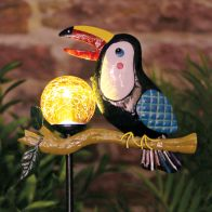 See more information about the Bright Garden Toucan Macaw Stake Solar Light