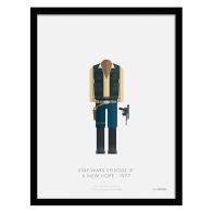 See more information about the Sci-Fi Costumes Han Solo Framed Print Wall Art 14 x 11 Inch