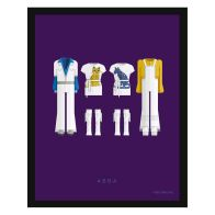 See more information about the Music Legends Abba Suits Framed Print Wall Art 14 x 11 Inch